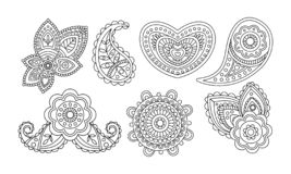 Elegancja rocznika projekta elementy, kwiecista ręka rysujący mandala stylizowali ornamentu wektoru ilustrację ilustracji