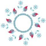 Elegancja round kwiecisty wzór, ilustracja royalty ilustracja