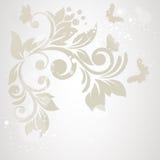 Elegancja wzór z kwiatami w rocznika stylu Grępluje dla matka dnia royalty ilustracja