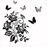 Elegancja wzór z kwiatu narcyzem na białym tle ilustracji