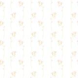 Elegancka łąka kwitnie bezszwowego wektorowego tło Obraz Royalty Free