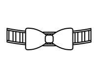 elegancka śliczna bowtie ikona royalty ilustracja