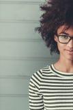 Elegancka Afro amerykanina dziewczyna Zdjęcie Stock