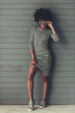 Elegancka Afro amerykanina dziewczyna Fotografia Royalty Free