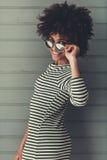 Elegancka Afro amerykanina dziewczyna Fotografia Stock
