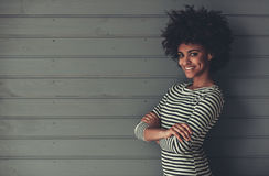 Elegancka Afro amerykanina dziewczyna Zdjęcia Royalty Free
