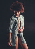 Elegancka Afro amerykanina dziewczyna Obrazy Stock