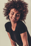 Elegancka Afro amerykanina dziewczyna Zdjęcia Stock