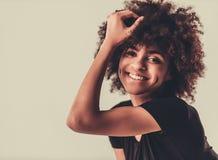 Elegancka Afro amerykanina dziewczyna Zdjęcie Royalty Free