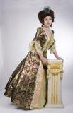 elegancka barokowa kobieta Fotografia Royalty Free