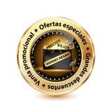 Elegancka Black Friday odznaka, sieć guzik projektujący dla Hiszpańskiego rynku sprzedaży detalicznej/ royalty ilustracja