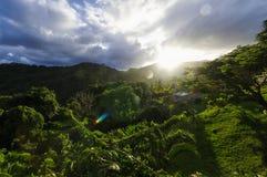 Elegancka chałupa na zachodnim wybrzeżu Dominica wyspa na Styczniu 4, 2017 Grodowy Bruce ja Zdjęcia Royalty Free