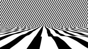 Elegancka Czarny I Biały Animowana powierzchnia dla VJ lub przedstawienia ilustracja wektor