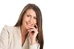 elegancka dojrzała uśmiechnięta kobieta Obrazy Stock