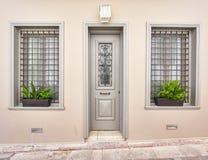 Elegancka domowa szara fasada Fotografia Royalty Free