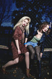 elegancka dwa kobiety Zdjęcia Stock
