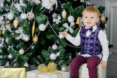 Elegancka dziecko chłopiec Fotografia Royalty Free