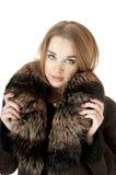 Elegancka elegancka kobieta w futerku zdjęcie stock