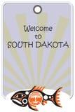 Elegancka etykietka dla Południowego Dakota royalty ilustracja