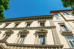 Elegancka fasada w Florencja Zdjęcie Royalty Free