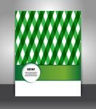 Elegancka geometryczna prezentacja biznesowy plakat Obraz Stock