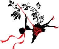 Elegancka graficzna sylwetka kobieta Obraz Royalty Free
