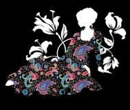Elegancka graficzna sylwetka kobieta Obraz Stock