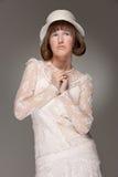 elegancka kapeluszowa kobieta fotografia stock