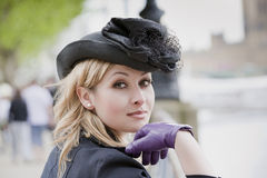elegancka kapeluszowa kobieta Obraz Stock