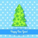 Elegancka kartka bożonarodzeniowa Zdjęcie Royalty Free