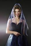 Elegancka kobieta w pięknej sukni Zdjęcie Stock