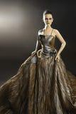 Elegancka kobieta w wieczór sukni obrazy royalty free
