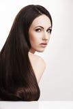 Elegancka kobieta z pięknym naturalnym włosy Zdjęcie Stock