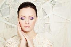 Elegancka kobieta z Pięknym Makeup Zdjęcie Royalty Free