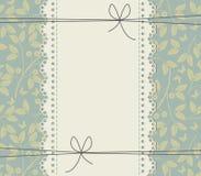 Elegancka koronki rama z pięknymi płatkami i motylami Obraz Royalty Free