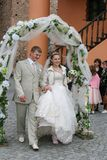 Elegancka ślubna ceremonia Fotografia Royalty Free