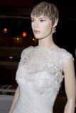 Elegancka Ślubna toga Na Mannequin Obrazy Royalty Free