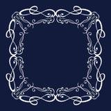 Elegancka luksusowa rocznik kaligrafii rama Zdjęcia Royalty Free