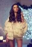 Elegancka modna dziewczyna Obrazy Royalty Free