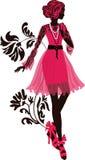 Elegancka mody kobiety sylwetka Zdjęcie Stock