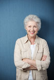 Elegancka nowożytna starsza kobieta Fotografia Stock
