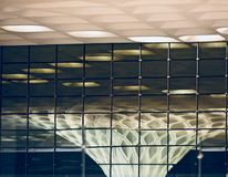 Elegancka nowożytna wewnętrzna dekoracja budynku zapasu fotografia zdjęcie stock