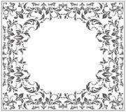 Elegancka okrąg rama z rocznika ornamentem Obraz Stock