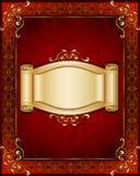Elegancka rama i sztandar Zdjęcie Royalty Free