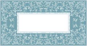 Elegancka rama z eleganckim kwiecistym ornamentem Zdjęcia Stock