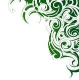 Elegancka rama z kwiecistymi elementami Obraz Royalty Free