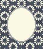 Elegancka rama z retro kwiatami Zdjęcie Royalty Free
