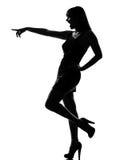 elegancka sylwetki roześmiana target188_0_ kobieta zdjęcia stock