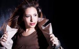 elegancka target681_0_ kobieta Obraz Stock