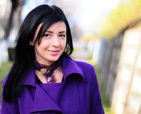 elegancka uśmiechnięta kobieta Fotografia Stock